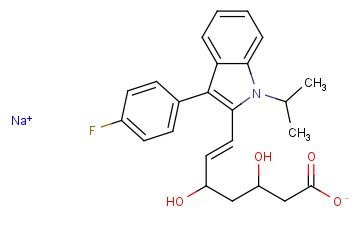 (E)-SODIUM <span class='lighter'>3,5-DIHYDROXY</span>-7-[3-(4-FLUOROPHENYL)-1-(1-METHYLETHYL 1H-INDOL-2-YL)]HEPT-6-ENOATE