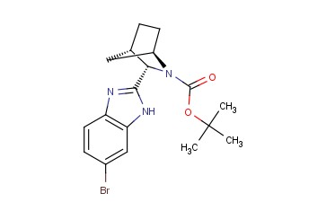 (1R,3S,4S)-3-(6-<span class='lighter'>Bromo</span>-1Hbenzimidazol-2-yl)-2-azabicyclo[2,2,1]heptane--2-<span class='lighter'>carboxylic</span> acid-1,1-dimethylethylester