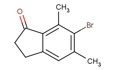 6-BROMO-5,7-DIMETHYL-<span class='lighter'>2,3-DIHYDRO-1H-INDEN-1-ONE</span>