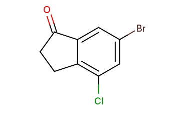 1H-<span class='lighter'>INDEN</span>-1-ONE, 6-BROMO-4-<span class='lighter'>CHLORO-2,3-DIHYDRO</span>-