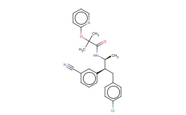 N-((2S,3S)-4-(4-CHLOROPHENYL)-3-(3-CYANOPHENYL)<span class='lighter'>BUTAN-2-YL</span>)-2-METHYL-2-(<span class='lighter'>PYRIDIN</span>-2-YLOXY)PROPANAMIDE