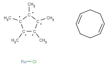 CHLORO(<span class='lighter'>1,5-CYCLOOCTADIENE</span>)(PENTAMETHYLCYCLOPENTADIENYL)RUTHENIUM(<span class='lighter'>II</span>)