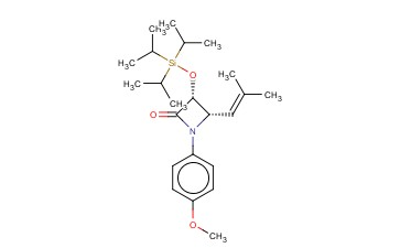 (3R,4S)-1-(4-Methoxyphenyl)-4-(2-methylpropenyl)-3-triisopropylsilyloxy-azetidin-2-one