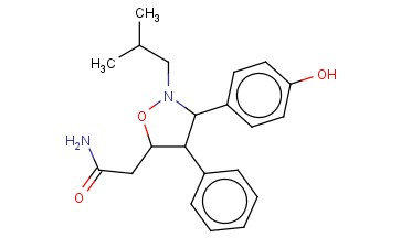 4,5-DIHYDRO-3-(4-HYDROXYPHENYL)-N-(2-METHYLPROPYL)-4-PHENYL-5-ISOXAZOLEACETAMIDE