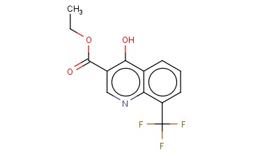 4-HYDROXY-8-(TRIFLUOROMETHYL)<span class='lighter'>QUINOLINE-3-CARBOXYLIC</span> ETHYL ESTER