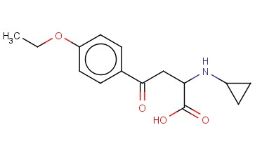2-(CYCLOPROPYLAMINO)-4-(4-ETHOXYPHENYL)-4-OXOBUTANOIC ACID