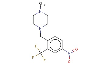 1-METHYL-4-(4-<span class='lighter'>NITRO</span>-2-(<span class='lighter'>TRIFLUOROMETHYL</span>)BENZYL)PIPERAZINE
