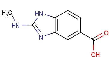2-(METHYLAMINO)-1H-BENZO[D]<span class='lighter'>IMIDAZOLE-5-CARBOXYLIC</span> ACID