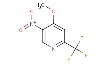 4-METHOXY-5-<span class='lighter'>NITRO</span>-2-(<span class='lighter'>TRIFLUOROMETHYL</span>)PYRIDINE