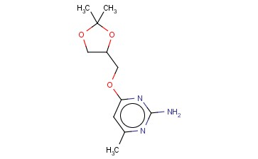 4-[(2,2-DIMETHYL-1,3-DIOXOLAN-4-YL)METHOXY]-6-METHYLPYRIMIDIN-2-AMINE