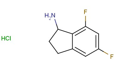 5,7-DIFLUORO-<span class='lighter'>2,3-DIHYDRO-1H-INDEN</span>-1-AMINE HYDROCHLORIDE