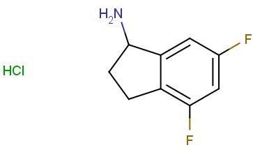 4,6-DIFLUORO-<span class='lighter'>2,3-DIHYDRO-1H-INDEN</span>-1-AMINE HYDROCHLORIDE