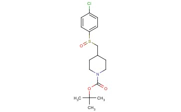 TERT-BUTYL 4-(((4-CHLOROPHENYL)<span class='lighter'>SULFINYL</span>)METHYL)PIPERIDINE-1-CARBOXYLATE