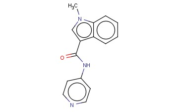 1H-INDOLE-3-CARBOXAMIDE,1-METHYL-N-4-PYRIDINYL-