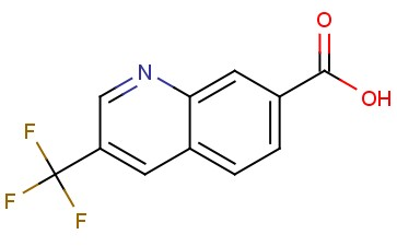 3-(TRIFLUOROMETHYL)<span class='lighter'>QUINOLINE-7-CARBOXYLIC</span> ACID