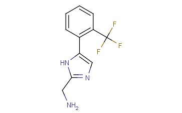1H-<span class='lighter'>IMIDAZOLE</span>-2-METHANAMINE, 5-[2-(<span class='lighter'>TRIFLUOROMETHYL</span>)PHENYL]-