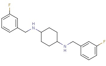 <span class='lighter'>N1</span>,N4-<span class='lighter'>BIS</span>(3-FLUOROBENZYL)CYCLOHEXANE-1,4-DIAMINE