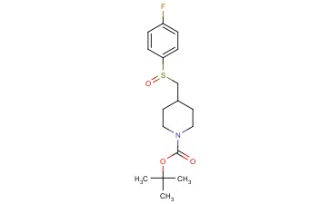 TERT-BUTYL 4-(((4-FLUOROPHENYL)<span class='lighter'>SULFINYL</span>)METHYL)PIPERIDINE-1-CARBOXYLATE