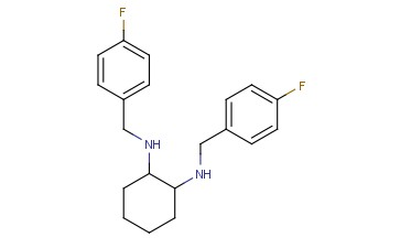 <span class='lighter'>N1</span>,N2-<span class='lighter'>BIS</span>(4-FLUOROBENZYL)CYCLOHEXANE-1,2-DIAMINE