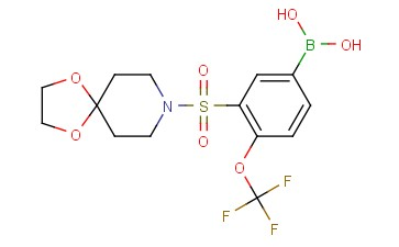 (3-(<span class='lighter'>1,4-DIOXA</span>-8-AZASPIRO[4.5]DECAN-8-YLSULFONYL)-4-(TRIFLUOROMETHOXY)PHENYL)BORONIC ACID